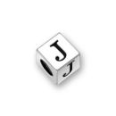Sterling Silver Alphabet Beads J 5.5mm Letter Beads