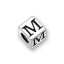 Sterling Silver Alphabet Beads M 7mm Letter Beads