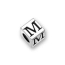 Sterling Silver Alphabet Beads M 5.5mm Letter Beads