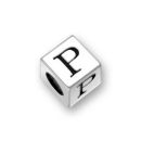Sterling Silver Alphabet Beads P 7mm Letter Beads