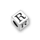 Sterling Silver Alphabet Beads R 7mm Letter Beads