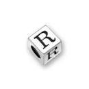 Sterling Silver Alphabet Beads R 5.5mm Letter Beads