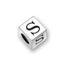 Sterling Silver Alphabet Beads S 7mm Letter Beads