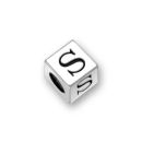 Sterling Silver Alphabet Beads S 5.5mm Letter Beads