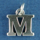 Initial Charm and Letter Charms Sterling Silver Image
