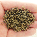 Split Rings 6mm 22 Gauge Bulk pack of 250 Bronze Plated