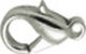 Antique Silver Tone Lobster Clasp Extra Large 11mm x 19mm