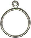 Charm Dangle Ring Sterling Silver Size 7