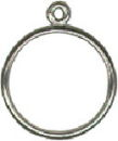 Charm Dangle Ring Sterling Silver Size 9