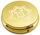 Round Pill Box in Gold