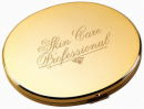 Compact Mirror Oval Gold Tone, Great Engravable Personalized Gift Idea