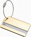 Luggage Tag Gold Tone