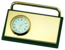 Card Holder with Clock in Green