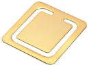Square Bookmark in Gold