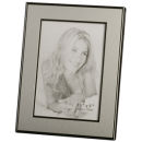 "Picture Frame fits 3-1/2"" x 5"" Silver Tone with Matte and High Polished Trim"