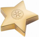 Star Paper Weight Gold Tone