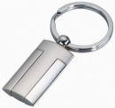 Rectangle Silver Tone Key Chain