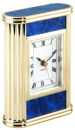 Marble Table Clock in Blue