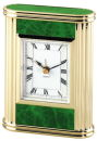 Marble Table Clock in Green