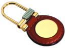 Round Leather Key Chain