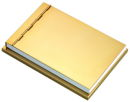 Memo Pad Holder in Gold