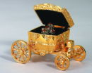 Carriage Jewelry Case in Gold Tone