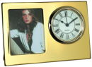 Picture Frame Clock in Gold