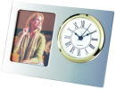 Picture Frame Clock in Silver