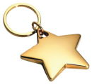 Star Key Chain Gold Tone