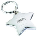 Star Key Chain Silver Tone