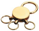 Three Ring Quick Release Key Chain In Gold