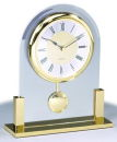 Gold Table Clock with Swing