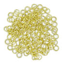 Gold 18 Guage Jump Rings Bulk 1mm by 6mm pack of 250