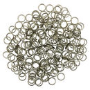 Raw Silver Split Rings 6mm Diameter Sold in Package of 200 Piece