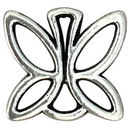 Outline Butterfly Charm Pendant in Silver Pewter Small