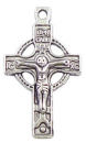Crucifix Cross Charm Double Sided in Antique Silver Pewter