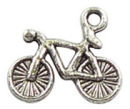 Bicycle Charm Antique Silver Pewter