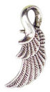 Reversible Angel Wing Charm in Antique Silver Pewter