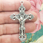 Crucifix Pendant Bulk in Antique Silver Pewter