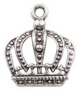 Crown Charm Small in Antique Silver Pewter