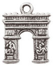 Paris Charms in Antique Silver Pewter the Arch of Triumph