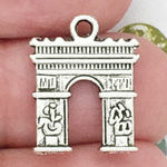 Paris Arch de Triumph Charms Bulk in Silver Pewter