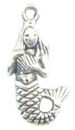 Mermaid Charm in Antique Silver Pewter