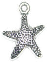 Starfish Charm in Antique Silver Pewter Nautical Charm
