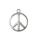 Peace Charm in Antique Silver Pewter Small Sized