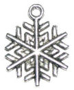 Snowflake Charm in Antique Silver Pewter