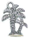 Palm Tree Charm in Antique Silver Pewter Hawaiian Charm