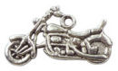 Motorcycle Charm in Antique Silver Pewter