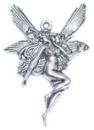 Fairy Charm in Antique Silver Pewter Small