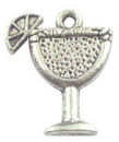 Margarita Charm in Antique Silver Pewter Wine Glass Charm